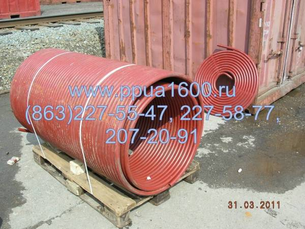 Змеевик потолочный ППУА 35.01.00.302, запасные части ППУА 1600/100