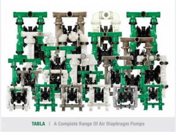 Пневмоприводный диафрагменный  универсальный насос TABLA и TRANS-FLO™