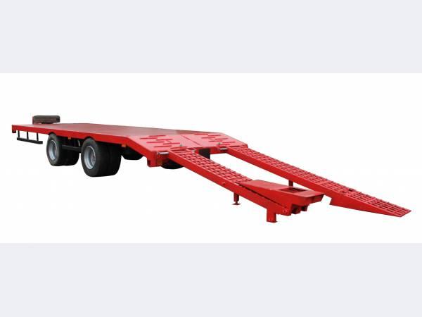 Низкорамный прицеп тандем для техники до 15 тонн модель 9835-71