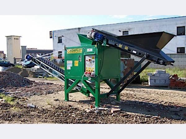 Дробилка и грохот ДСК Италия отходов бетона, камней, кирпича
