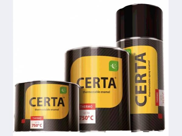 Термостойкая антикоррозионная краска «CERTA®» и термостойкий лак КО-85