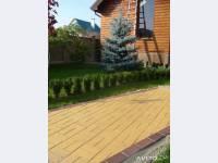 Тротуарная плитка вибропрессованная и вибролитьевая +укладка