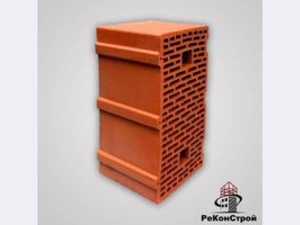 Керамический крупноформатный поризованный блок, Гжель 44, 12,3 НФ,