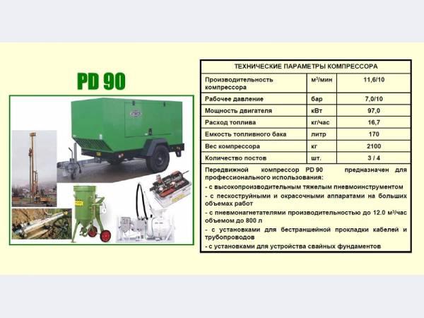 Дизельный компрессор Atmos PD 90