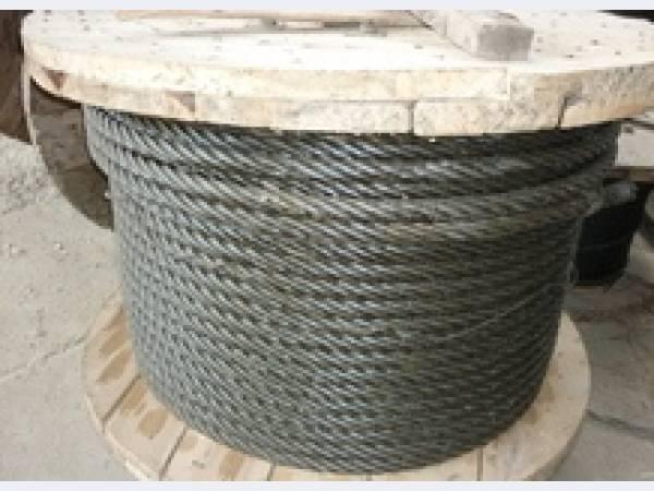 Канат стальной грузовой ГОСТ 2688-80 двойной свивки типа ЛК-Р