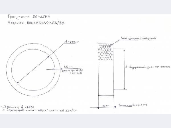 матрица для гранулятора Б6-ДГВ(М)
