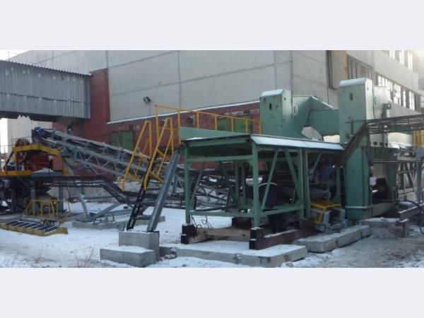 Комплекс переработки крупногабаритного бетона, железобетона