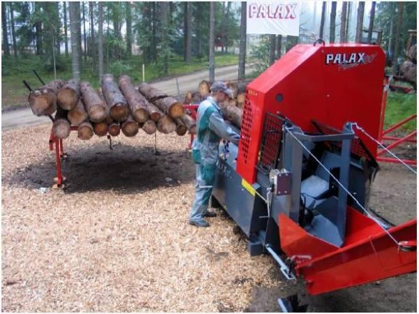 Машины для колки дров - дровоколы Palax (Финляндия).