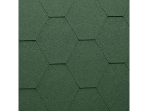Гибкая битумная черепица Katepal KL, зелёный