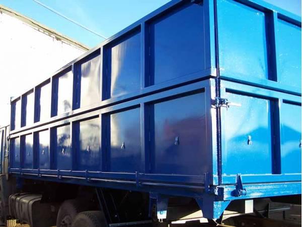 Самосвальная установка с/х на 2 стор 2 цилиндра. Кузов 18 куб.м.