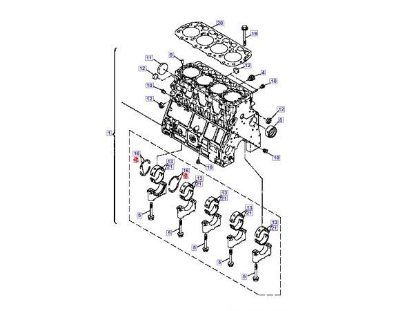 YM723900-01560 Cylinder block, assy