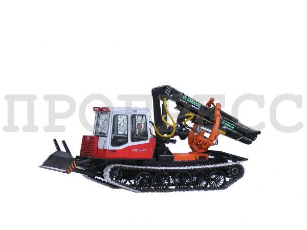 Трелевочный трактор ЛП-18К на шасси МСН-10 (ТТ-4М)