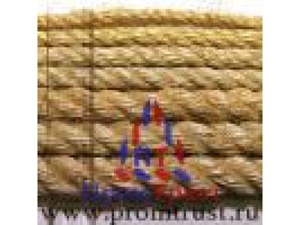 Веревка джутовая, сизалевая, льняная отделочная, декоративная.