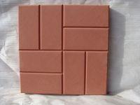 Вибролитая тротуарная плитка 8 кирпичей (коричневый)
