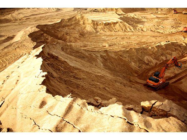 Поставка песка намывного до объекта