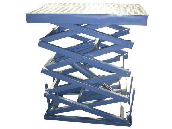 Четырехножничные подъемные столы