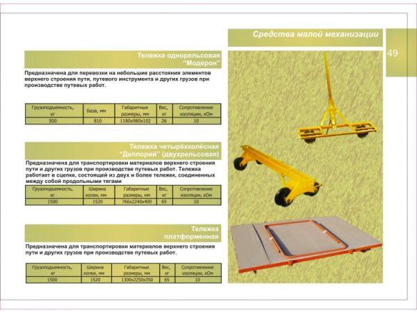 Малая механизация для путевых работ