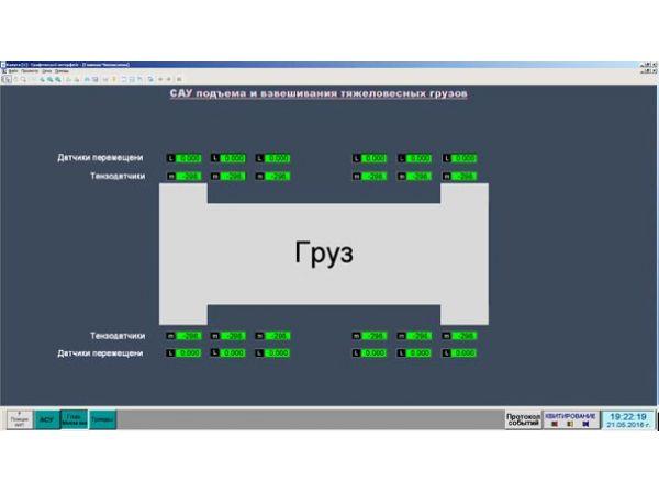Система автоматизированного контроля подъема и взвешивания тяжеловесны