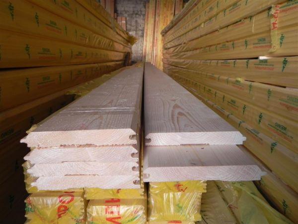 Имитация бруса  камерной сушки 28мм*190мм*6м от производителя.