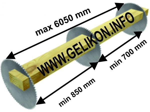 Станок торцовочный проходного типа конвейерный СТП-3П-500