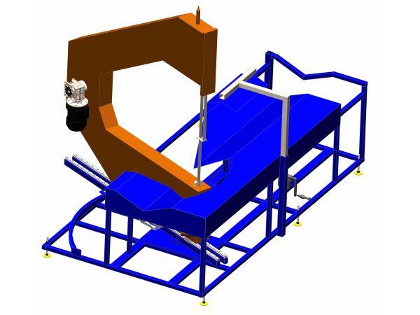 Ленточнопильный станок для резки водопроводных полимерных труб