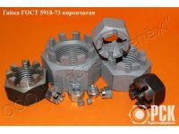 Купить гайку корончатую ГОСТ 10606-72 от М52 до М160
