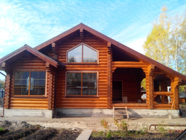 Дома из оцилиндрованного бревна по Вашим проектам