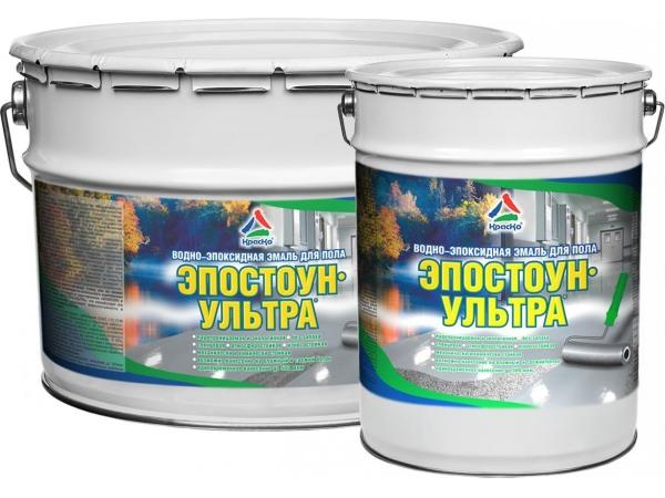 Водно-эпоксидная эмаль для бетонного пола - Эпостоун-Ультра