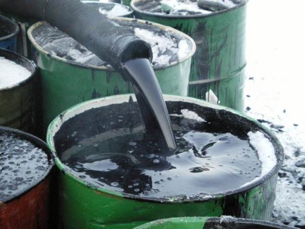 Очистка резервуаров от битума и мазута