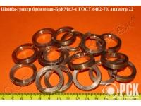 Купить бронзовый гровер бркмц3-1 по ГОСТ 6402-70, шайба гроверная ГОСТ