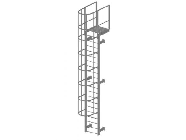 Пожарная вертикальная лестница Металлическая