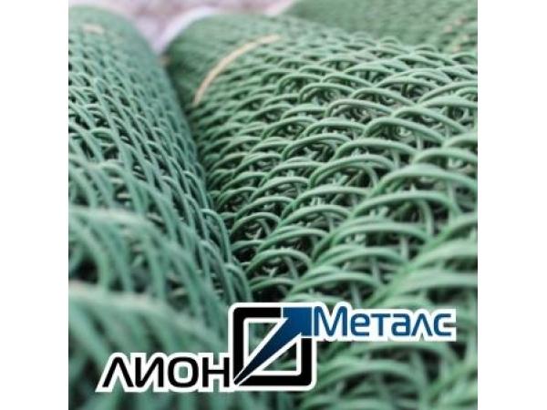 Сетка рабица стальная плетеная одинарная ГОСТ 5336-80 черная цинк ПВХ