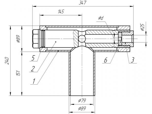 Штуцерная камера 1436