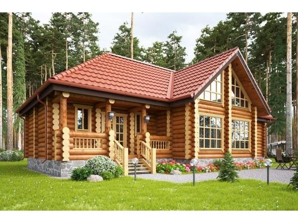 Дома и бани из оцилиндрованного бревна (Сибирь)