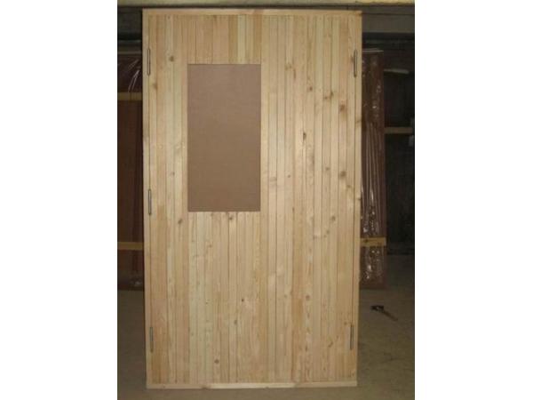 Дверной блок наружный с деревянной профилированной рейкой ГОСТ24698-81