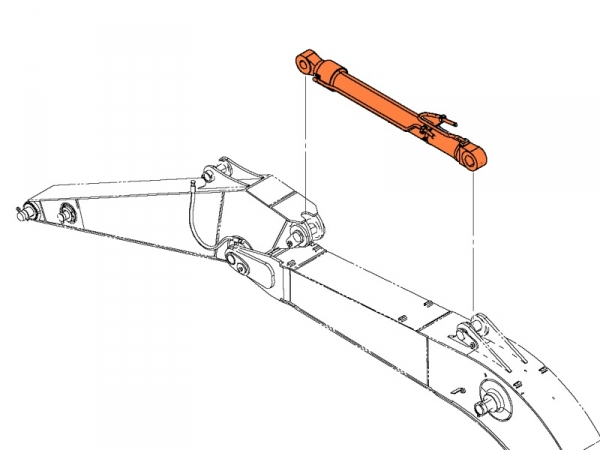 Гидроцилиндр рукояти Hyundai R 290LC-7 артикул 31N8-50138