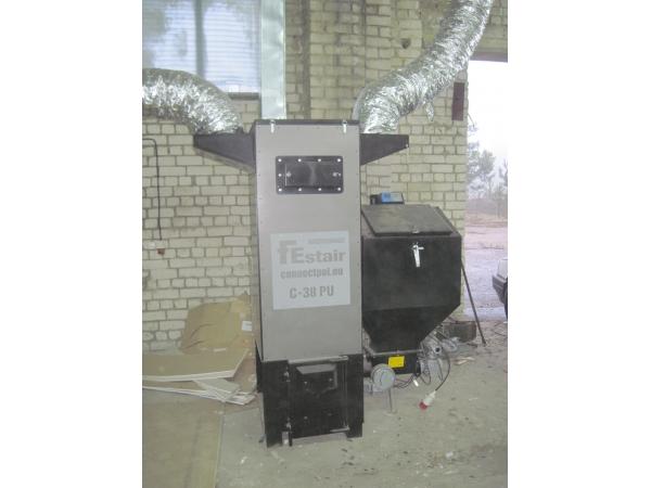 Теплогенератор на пеллетах автоматический.