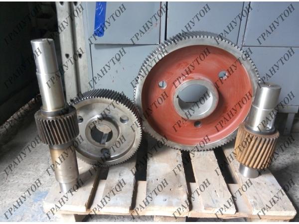 Зубчатые пары редуктора гранулятора ОГМ 1.5. Запчасти ОГМ.