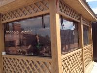 Мягкие окна в беседку, Шторы для беседки, Прозрачный тент