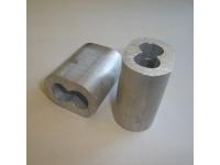 Втулки алюминиевые для опрессовки канатов строп (14 мм)