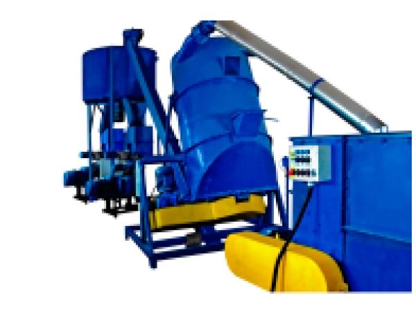 Линия для производства экструдированных комбикормов из зерна и соломы