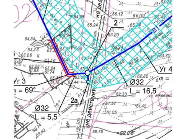 Топографическая карта участка в масштабе 1:500