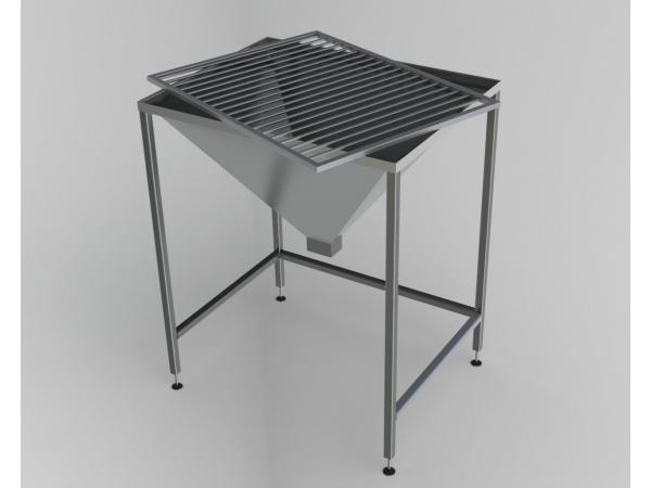 Стол из нержавеющей стали для опорожнения желудков для убоя скота