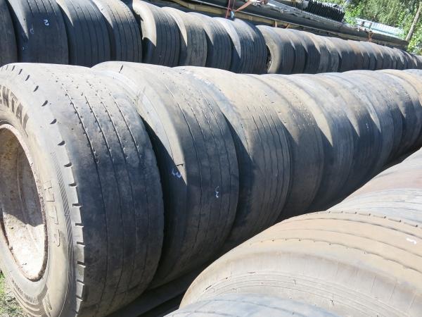 Колёсо грузовое в сборе с диском 385/65R22,5 третья категория, 2007