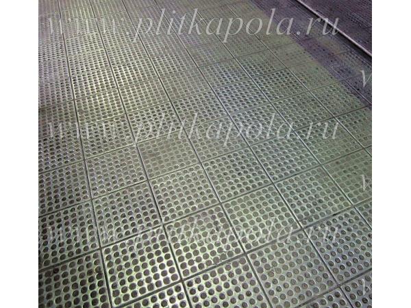 Промышленные полы из металлической плитки