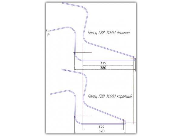Палец ГВВ 31.603 (6, 7 мм) на грабли ГВВ, ГКП