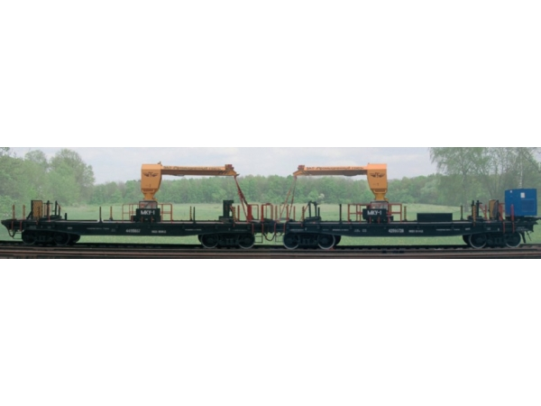 Краны для погрузки, перевозки рельсов модульные МКУ