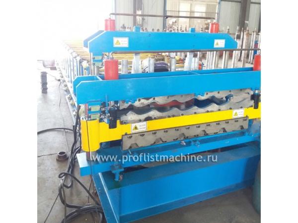 Автоматический двухъярусный станок по производству профнастила из Кита