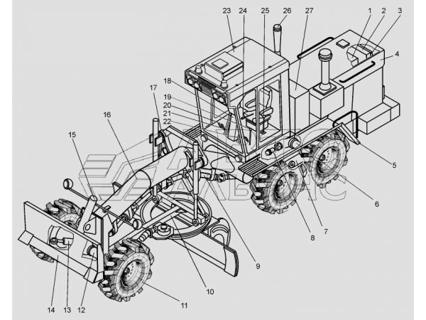 запасные части на Автогрейдер ДЗ-98В