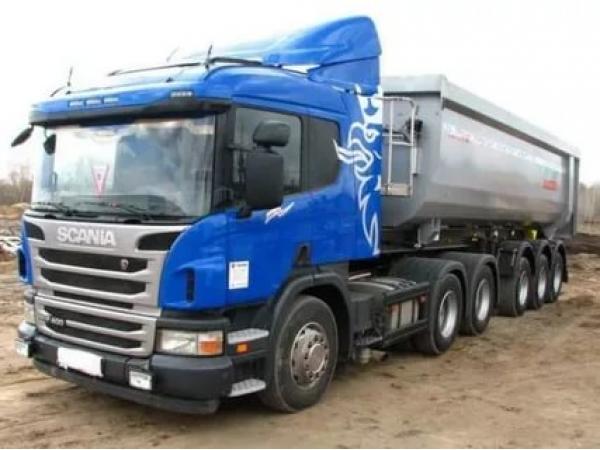 Scania с полуприцепом Schmitz 25 м3